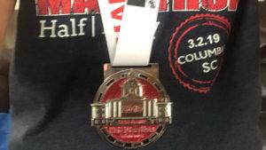 Run Hard Columbia Half Marathon medal