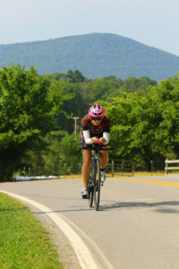 Fiona G Martin on bike course in Chattanooga