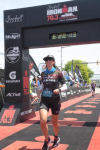 Fiona G Martin triathlete Chattanooga 70.3 finish