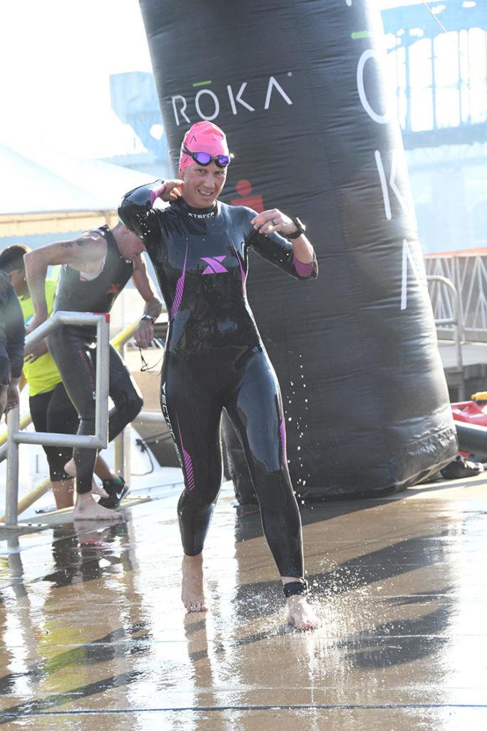 Fiona G Martin swim finish Chattanooga 70.3
