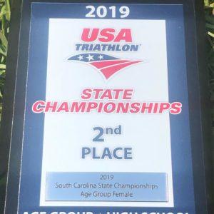 USA Triathlon State Champ 2nd place