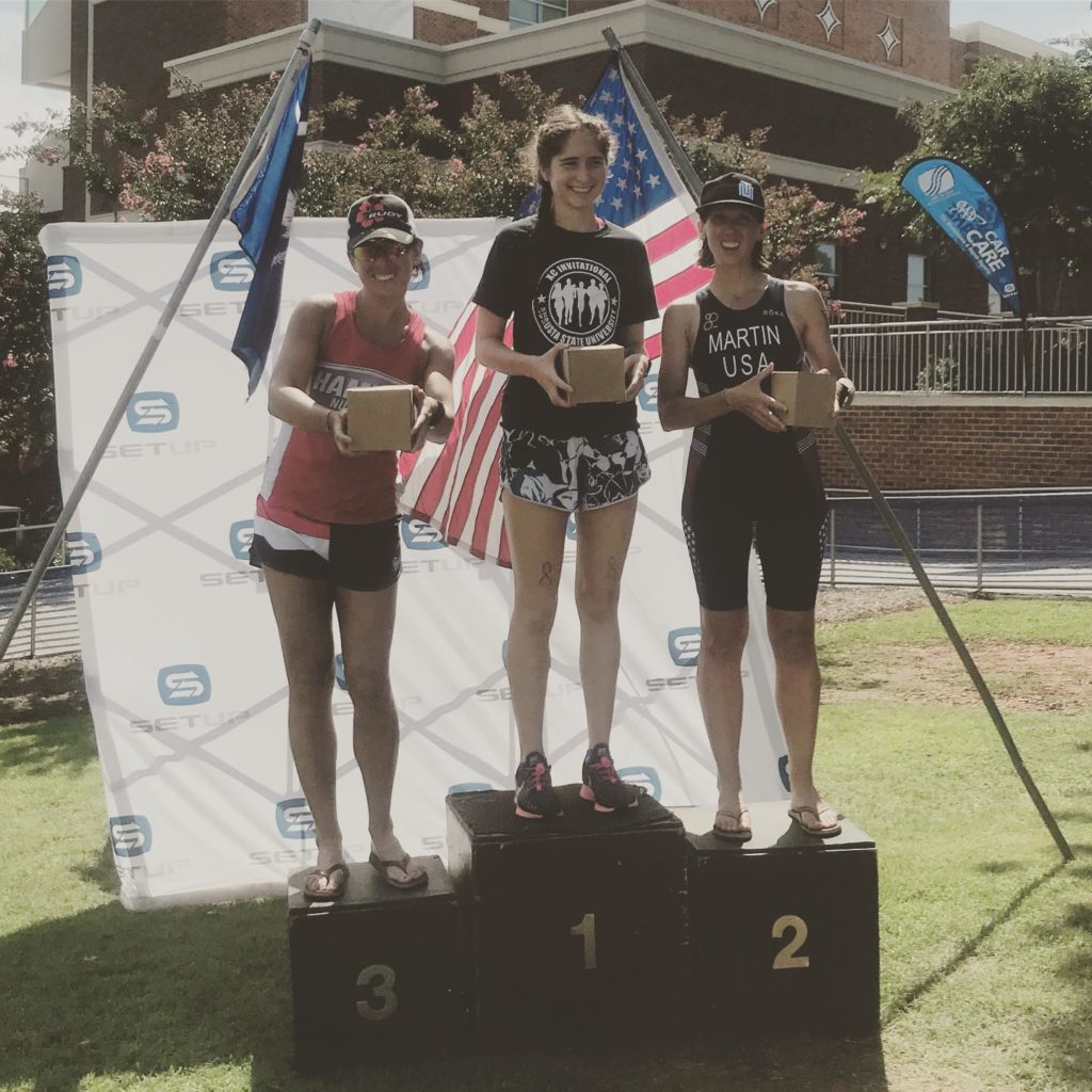 Fiona Martin 2nd place Tri the Swamp Rabbit 2019