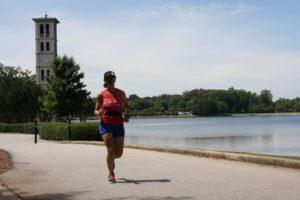 Fiona Martin running at Furman
