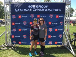 Fiona Martin and Danielle King at AG National Championships
