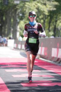Fiona Martin finish line Augusta 70.3