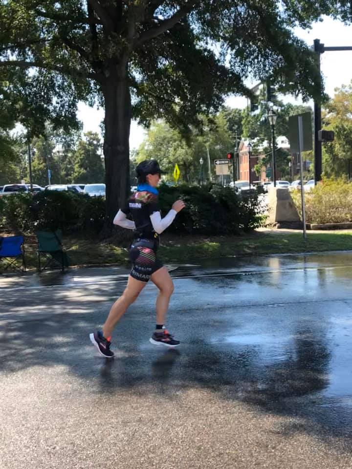 Fiona Martin run course Augusta 70.3